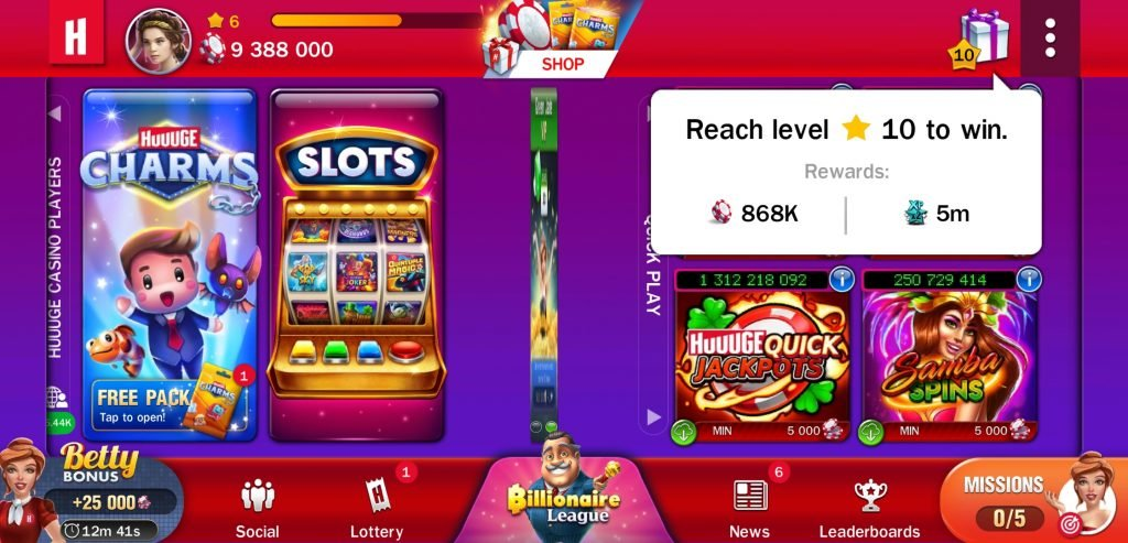 huuuge casino milestone rewards