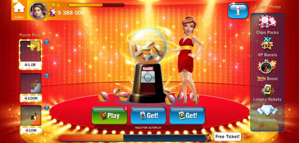 huuuge casino lottery
