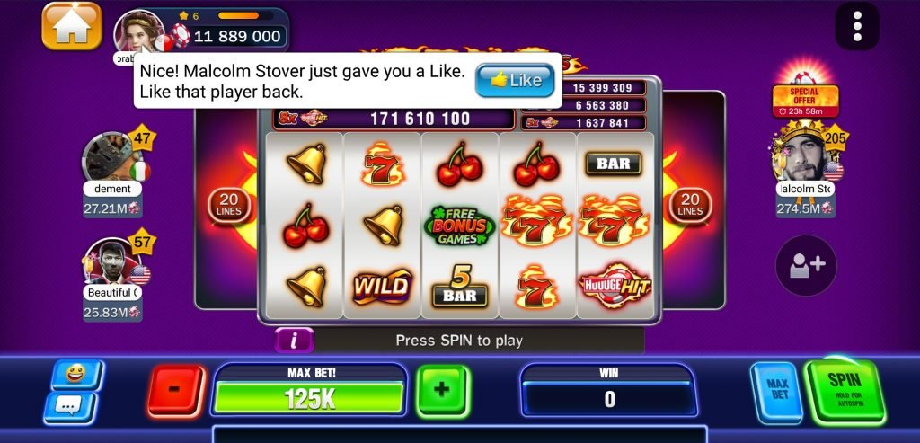 huuuge casino users interaction