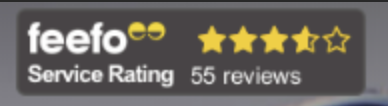 feefo service rating badge
