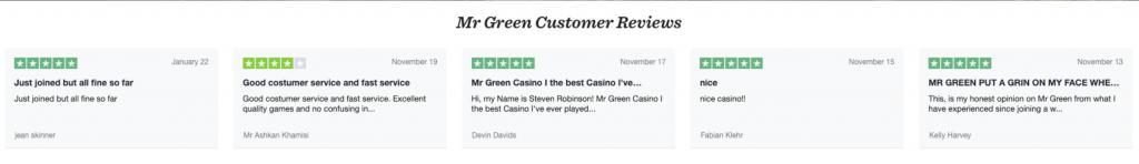 mr green testimonials